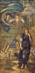 Edward Burne-Jones (Edward Burne Jones) (1833-1898)  Sponsa de Libano  Watercolour, 1891  155.5 x 332.5 cm (5' 1.22